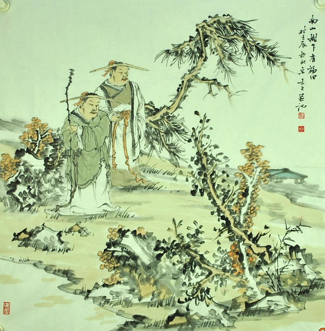首页 > 国画作品   标题: 南山树下有福田 编号: 3300        张士之